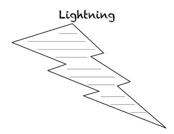 Lightning Concrete Poem