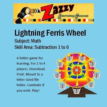 Lightning Ferris Wheel Folder Game Subtraction 1-6