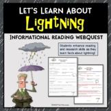 Lightning Webquest Reading Research Activity Common Core