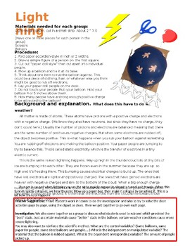 Lightning Investigation and CLOZE activities (editable)