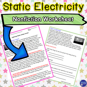 Static Electricity Nonfiction Article and Activity