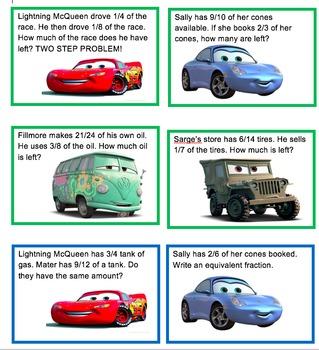 Lightning McQueen's Fraction Race