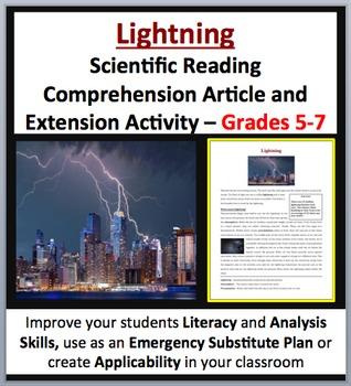 Lightning - Scientific Reading Comprehension Article – Grades 5-7