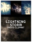 Lightning Storm Clipart (For Personal or Commercial Use)