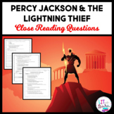Percy Jackson and the Lightning Thief Close Reading Questions
