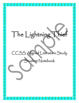 Lightning Thief Literature Study - Common Core Aligned