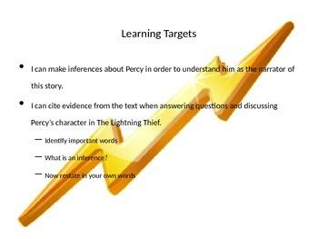 Lightning Thief Mod 1 6th grade lesson 1