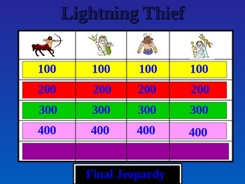 Lightning Thief Power Point