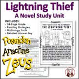 The Lightning Thief Novel Study Unit