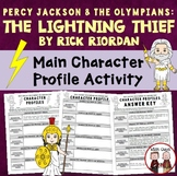 The Lightning Thief Reading Character Profile Activity