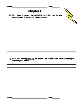 Lightning Thief Reflection Questions