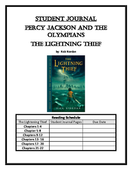 Lightning Thief Student Journal