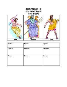 Lightning Thief Student Workbook  For Grades 5, 6, 7