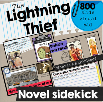 Lightning Thief Visual Book Companion Powerpoint