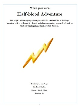 Lightning Thief Writing Packet