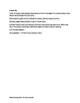 Lightning Thief chapter 12 quiz