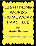 Lightning Words Homework Packet - Complete Year of Sight Words!