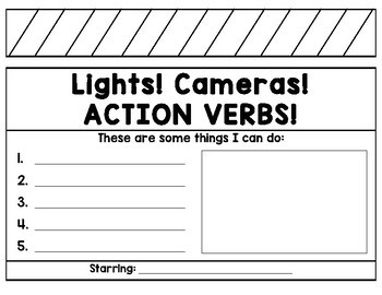 Lights! Cameras! ACTION VERBS!
