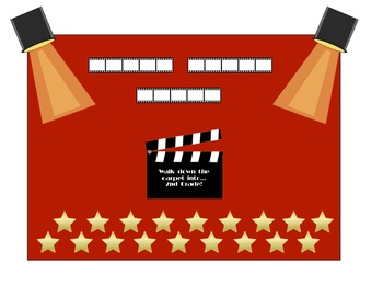 Lights Camera Action Bulletin Board Set