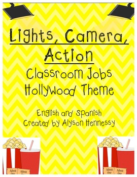 Lights, Camera, Action!  Job Cards in English and Spanish