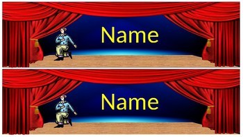 Lights, Camera, Action! Nameplates