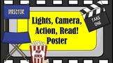 Lights, Camera, Action, Read! Poster