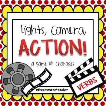 Lights, Camera, Action! Verb Charades