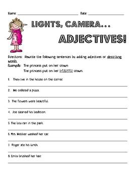 Lights, Camera, Adjectives!