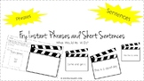 Lights, Camera, FRY (First 100) INSTANT PHRASES & SENTENCES