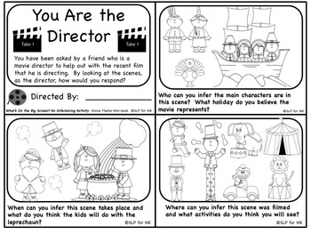 Lights, Camera, Inference! No Print & Print Movie Scenes Language Development