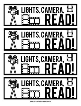 Lights, Camera, Read! Bookmarks