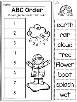 April Printables {20 L.A. & Math activities}