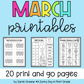 Lights, Camera, Teach! March {20 ready-to-print L.A. & Math activities}