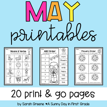 Lights, Camera, Teach! May {20 ready-to-print L.A. & Math activities}