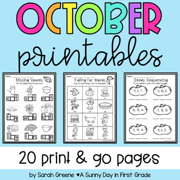 Lights, Camera, Teach! October {20 ready-to-print L.A. & M