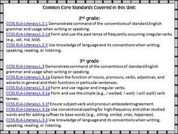 Lights! Camera! Verbs! 2nd & 3rd grade Common Core Aligned Verb Unit