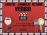 Lights! Camera! Verbs! 2nd & 3rd grade Common Core Aligned