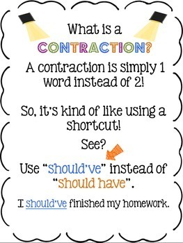 Lights...Camera…Contraction Action! {An action-packed Complete Contraction Unit}