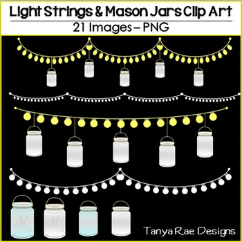 Lights & Mason Jars Clip Art