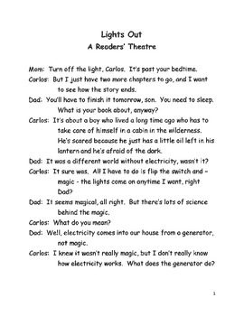 Lights Out Readers Theater
