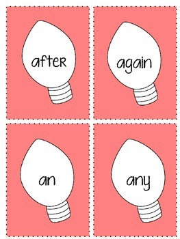 """""""Lights Out"""" Sight Word Game (1st Grade)"""