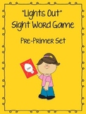 """Lights Out"" Sight Word Game (Pre-Primer)  **FREEBIE**"