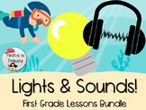 Lights & Sounds First Grade Science Lessons Bundle **NGSS Aligned**