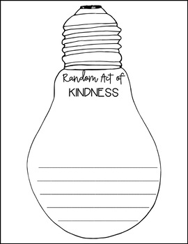 Lights of Kindness - Writing Activity! Lighting Up Our Classroom with Kindness