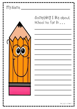 School Writing Page