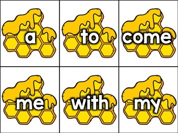 Like Bees to Honey: Sight Word Matching Game