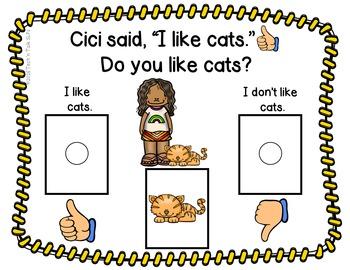 Like! Don't Like! Like!    Interactive Core Vocabulary Book