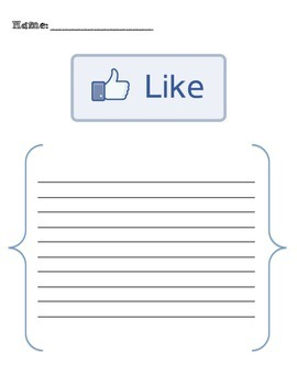 Like It... Or Love It! -- A Social Network Worthy Printable To Engage and Enjoy!
