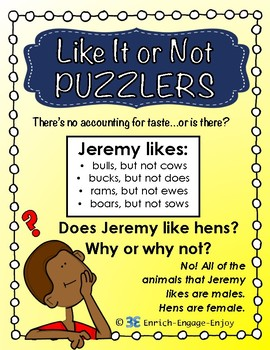 Like It or Not Puzzlers