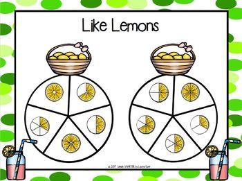 Like Lemons:  NO PREP Equivalent Fractions Spin Game
